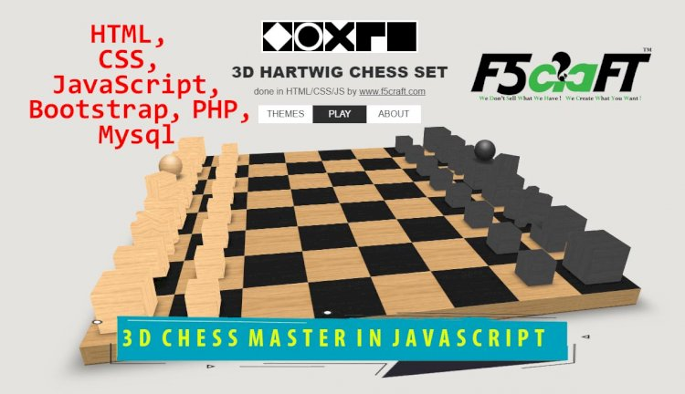3D CHESS MASTER GAME IN JAVASCRIPT WITH CSS AND HTML